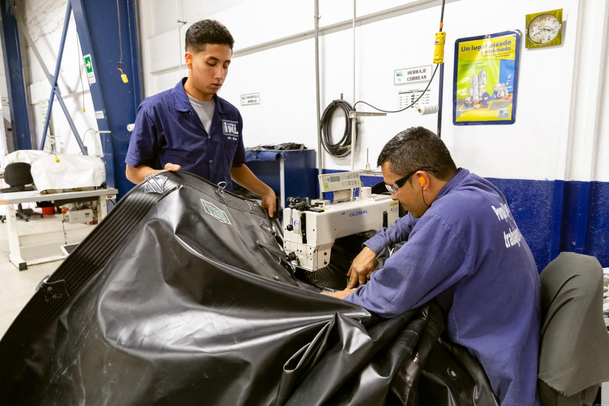 cosedora de lona vinilica carpas ikl
