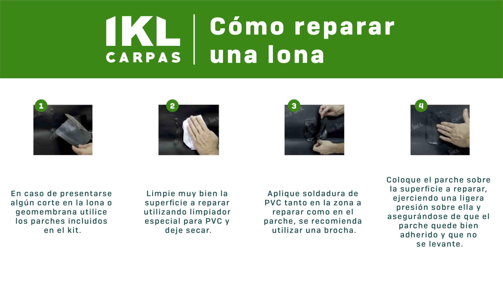 carpas ikl infográfico como reparar una lona